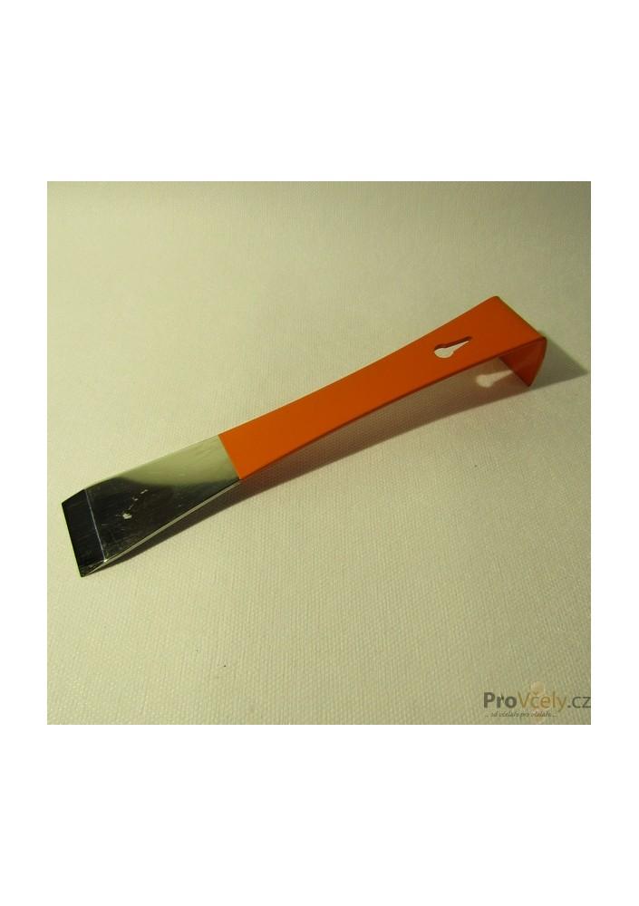 Rozpěrák nerez oranžový plochý 21cm