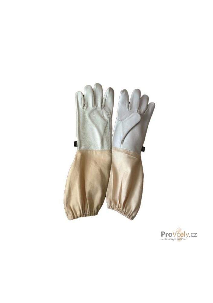 Včelařské rukavice jemná kůže vel. 10/textil rukáv