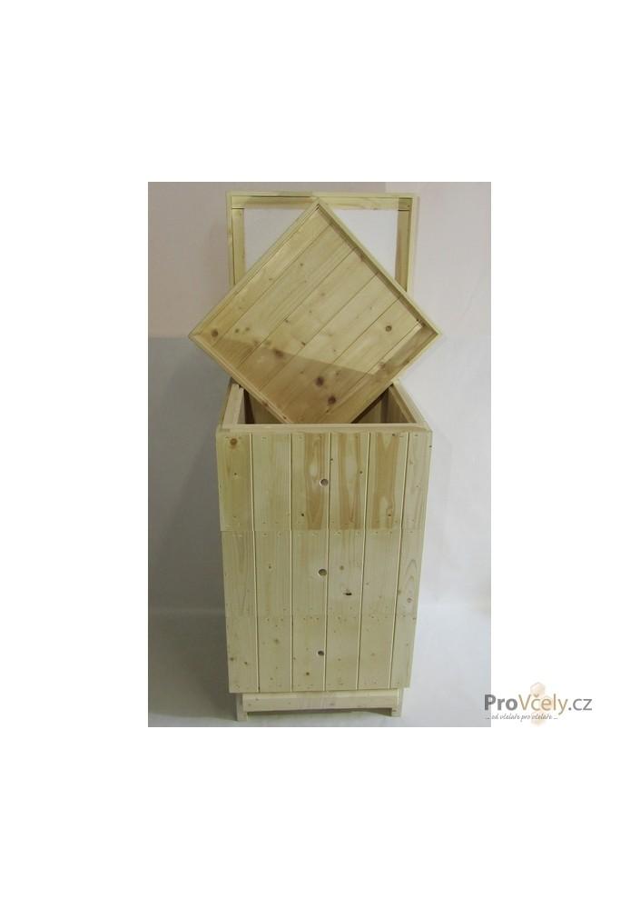2cm sestava 3x nástavek 39x24, dno varroa, vnitřní palubkové zateplené víko