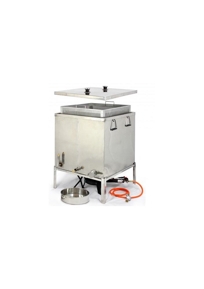 Vařák na vosk nerez kombinovaný Gigant I + 1x Plynový hořák 10,5 kW zdarma
