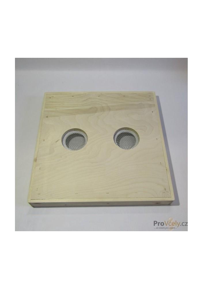 Krmné víko překližka vodovzdorná se 2 otvory pro úl 39x zateplený 2cm