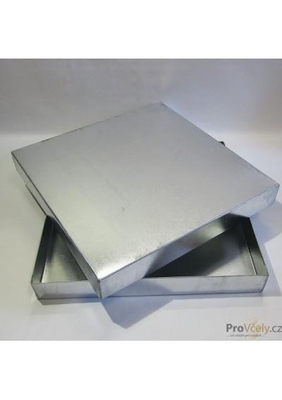 Víko venkovní plechové pozinkované pro úl 39x zateplený 2cm i CD